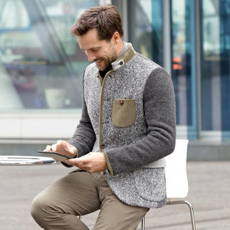 Der Mode-Klassiker Janker, modernisiert von Luis Trenker. Schlanker Schnitt. Softe Stoffe im aktuellen Material-Mix.