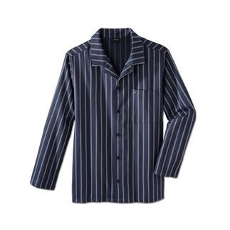 Der feine Twill-Pyjama von Seidensticker. Nicht zu warm. Nicht zu kalt. Genau richtig für erholsamen Schlaf.