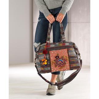 Die Smitten Overnight-Bag: authentisch, modern und fair gefertigt. Verbindet Ethno und Ethik auf schöne und nachhaltige Weise.