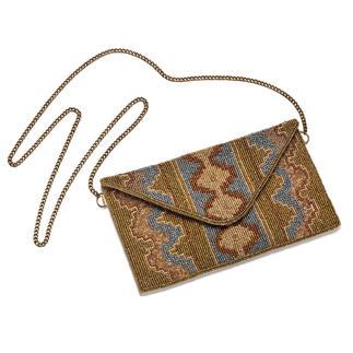 Die handgefertigte Clutch mit prachtvoller Perlenstickerei. Von Smitten. Jede Tasche ein Unikat.