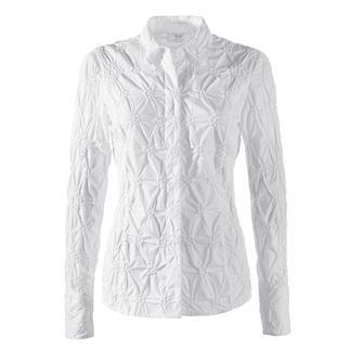 Die klassische weisse Bluse aus edlem Batist, allover bestickt. Bitte niemals bügeln.