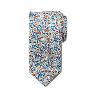 Die Krawatte aus original Liberty-Stoff. Von Hand zugeschnitten und vernäht. Bei Ascot, in der Seidenstadt Krefeld.