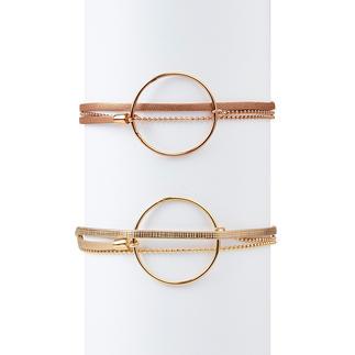 Das wertvolle (und doch preislich attraktive) Layering-Armband. Handgefertigt in Frankreich, von FlowersForZoé.