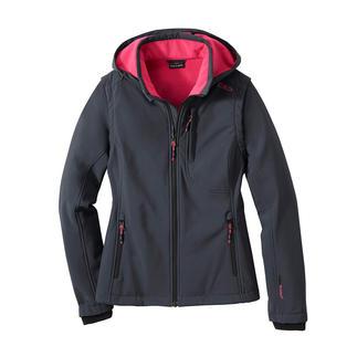 Die Jacke aus Soft Shell, mit WindProtect® von CMP. Schlank, leicht und trotzdem warm.
