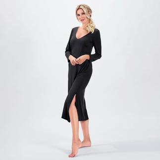Das wohl eleganteste Nachtkleid in Ihrem Schrank. Fliessender, hochelastischer Stoff. Modische Maxi-Länge. Verführerischer Rückenausschnitt.