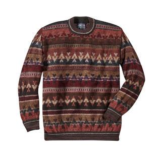 Der aufwändig handwerklich gestrickte Jacquard-Pullover. Original aus den Anden. Ein Kunstwerk aus reinem Alpaka – in den Farben peruanischer Hochgebirge.