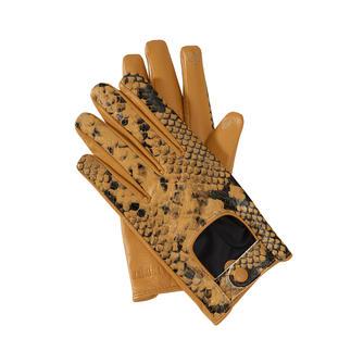Die 2-fach trendgerechten Handschuhe von TWINSET mit praktischer Touchscreen-Funktion. Aktueller Autofahrer-Look. Angesagte Python-Optik.