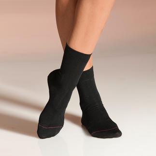Pantherella-Strümpfe oder Socken für Damen Warum Strümpfe aus England? Jede einzelne Socke wird noch per Hand an der Spitze besonders haltbar zusammen gekettelt.
