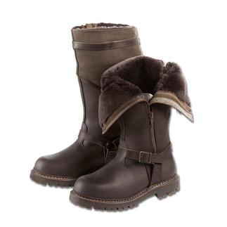 Der Fliegerpelz-Stiefel, der Ihre Füsse warm und trocken hält – selbst bei unter minus 15 Grad. Bei Reck & Sohn, Schuhmacher seit 1899, in echt zwiegenähter Machart gefertigt.