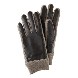 Die edlen Ziegenleder-Handschuhe mit elastischen Strick-Einsätzen. Mit Touchscreen-Ausstattung zur leichten Bedienung von Smartphone und Tablet.