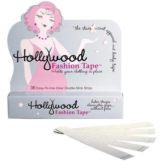 Das Geheimnis für ein perfekt sitzendes Outfit: original Hollywood Fashion Tape®. Hautverträglich, transparent und unglaublich effektiv.