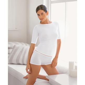 Die hauchzarte Basic Wäsche aus der feinsten Pima-Baumwolle - von der Schweizer Feinstrickerei Zimmerli. Dauerhafter, tadelloser Sitz. Sehr elastisch und formstabil, dabei weich und leicht.