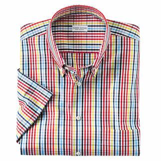 Das Sommer-Hemd, das zu allen Unis passt. Erfrischendes Karo-Dessin von Italiens Edelweber Monti. Design von Claude Dufour.