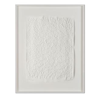 Günther Uecker – Feld, 2011 Prägedruck auf 300-g-Büttenpapier  Auflage: 90 Exemplare   Exemplar: e. a.  Blattgrösse (B x H): 50 x 70 cm   Masse: gerahmt 73 x 93 cm