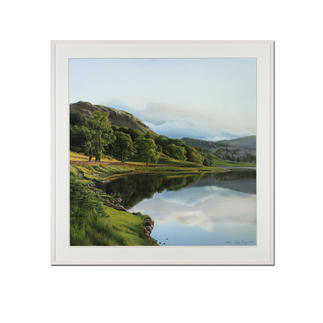 """Koshi Takagi: """"Spiegelungen 2"""" Fotorealismus. Mit über 1 Million Pinselstrichen. Handübermalte Lithografie von Koshi Takagi. 30 Exemplare."""
