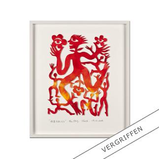 Ren Rong – Pflanzenmensch 2011 Das berühmteste Motiv eines der renommiertesten chinesischen Künstler: Ren Rongs Pflanzenmensch als unikale 3-D-Konstruktion. 15 Exemplare.