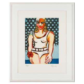 Elvira Bach – Germany's Next Topmodel 2010 Unverkennbar Elvira Bach: Eines ihrer weltberühmten Frauenportraits als Radierung. Die letzten 20 Exemplare der 99er-Edition. Masse: 46 x 60 cm