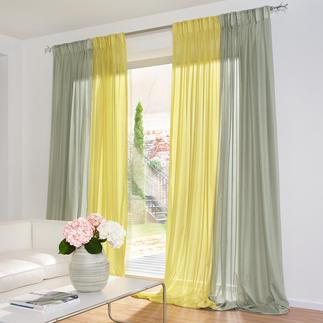 """Vorhang """"Aufwind"""", 1 Vorhang Ein duftiger Inbetween mit seltenem Hochglanzeffekt."""