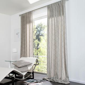 "Vorhang ""Varella"", 1 Vorhang Nobler Damast, filigran dessiniert wie feine Spitze."