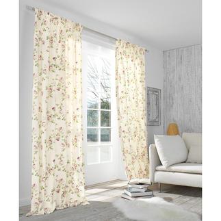 """Vorhang """"Kesa"""", 1 Vorhang Romantisches Rosen-Dekor. Der Evergreen des Cottage-Stils, original aus Grossbritannien."""