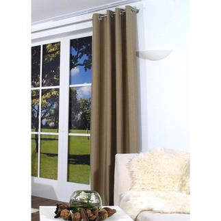 """Vorhang """"Marty"""", 1 Vorhang Ein quer gewebter Vorhang ist selten zu finden. Und seine Struktur ein aussergewöhnlicher Blickfang."""