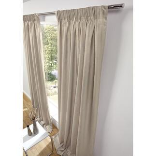 """Vorhang """"Gobi"""", 1 Vorhang Seltenes, gechintztes Leinen: Edle Optik.  Strapazierfest und dauerhaft formbeständig."""