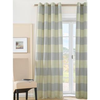 """Vorhang """"Java"""", 1 Vorhang Taft mit Blockstreifen-Dessin – sehr vielseitig und erfreulich preiswert."""