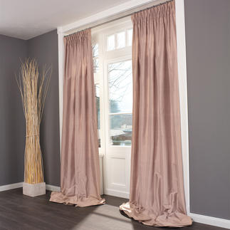 """Vorhang """"Madras"""", 1 Vorhang Kostbare Dupionseide – aussergewöhnlich farbintensiv und brillant."""