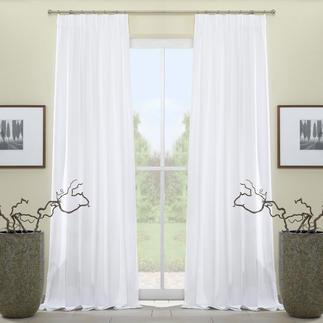 """Vorhang """"Paola"""", 1 Vorhang Beste Baumwoll-Qualität in 5 Trendfarben – vom französischen Traditionsstoffverlag Compagnie des Étoffes. Herrlich pflegeleicht und erfreulich günstig."""