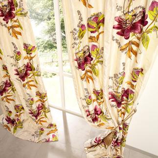 """Vorhang """"Passion Flower"""", 1 Vorhang Unter den floral dessinierten Vorhängen ist dies einer der  exquisitesten."""