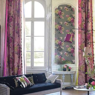 """Vorhang """"Portier"""", 1 Vorhang Typisch Designers Guild: prunkvoller Seiden-Schal mit Blüten wie von Hand gemalt."""