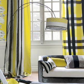 """Vorhang """"Beduzzi"""" oder Vorhang """"Svoboda"""", je 1 Vorhang Karos und Ketten – farbbrillant und weich fliessend."""