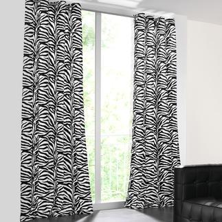 Vorhang Zebra - 1 Stück Nur die besten Wirkfelle sind fein genug für einen weich fallenden Vorhang.