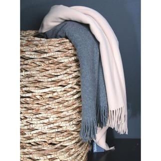 """Decke """"Must"""", 1 Decke Zoeppritz Plaid in Wollsiegel-Qualität. Zarte Schurwoll-Decke zum Wohlfühlen."""
