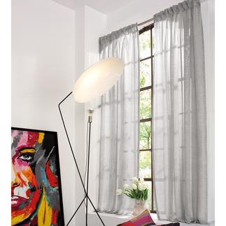 """Vorhang """"Convex"""", 1 Vorhang Leinen-Look, ganz leicht und lichtdurchlässig."""