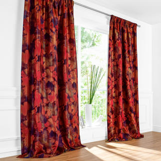 """Vorhang """"Magnolia"""", 1 Vorhang Sahco feiert die """"Rückkehr der Farben"""" mit einem wahren Feuerwerk."""
