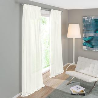 Vorhang Arca - 1 Stück Reines Leinen – selten fein, aussergewöhnlich lichtdurchlässig und preisattraktiv.
