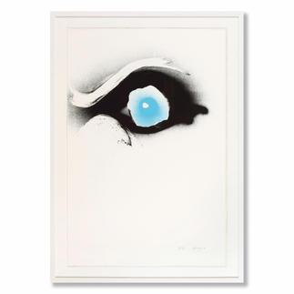 Otto Piene – Seuloeil Ausdrucksstark und einzigartig – Pienes berühmte Rauchbilder. Masse: 120 x 80 cm