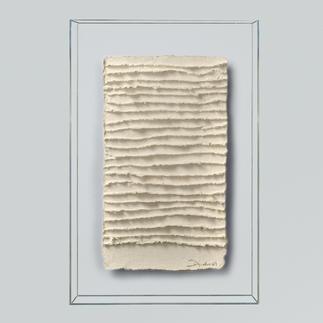 André Schweers – Weisse Faltung Einzigartige Gelegenheit, ein Unikat André Schweers' zu diesem Preis zu erhalten. Masse: 39 x 58 cm