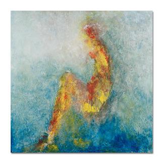 Benno Werth – Die Sitzende Seit 2011 im Stadtmuseum Riesa – jetzt als handübermalte Edition bei Ihnen zu Hause. Prof. Benno Werth editiert erstmals einen Akt. 20 Exemplare. Exklusiv für Pro-Idee. Masse: 100 x 100 cm