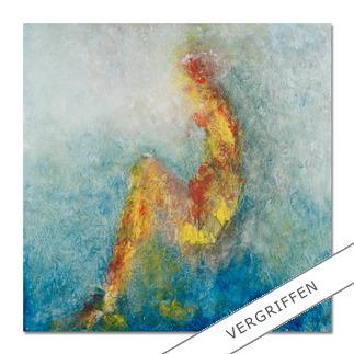 """Benno Werth: """"Die Sitzende"""" Seit 2011 im Stadtmuseum Riesa – jetzt als handübermalte Edition bei Ihnen zu Hause. Prof. Benno Werth editiert erstmals einen Akt. 20 Exemplare. Exklusiv für Pro-Idee."""