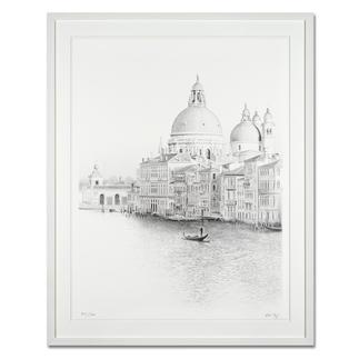 Koshi Takagi – Venedig Fotorealistische Bleistiftzeichnung mit über 1 Million handgemalten Strichen. Die dritte Schwarz-Weiss-Edition Koshi Takagis (die erste ist bereits ausverkauft). 30 Exemplare. Masse: gerahmt 94 x 117 cm