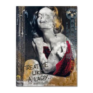 """Devin Miles – Like a Lady Devin Miles: Der Shootingstar der deutschen """"Modern Pop-Art"""". Unikatserie aus Malerei, Siebdruck und Airbrush auf gebürstetem Aluminium. 100 % Handarbeit. Masse: 100 x 130 cm"""