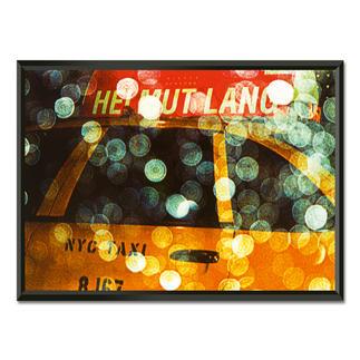 Philipp Hofmann – New York Taxi in the rain Einzigartige Fotokunst – dank eigens entwickelter Technik von Philipp Hofmann. Ausdrucksstarke Präsentation in einem beleuchteten, kabellosen Objektrahmen. 20 Exemplare. Masse: gerahmt 123 x 89 cm