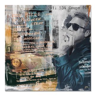 """Devin Miles – Steve's 911 Devin Miles: Der Shootingstar der deutschen """"Modern Pop-Art"""". Unikatserie aus Malerei, Siebdruck und Airbrush auf gebürstetem Aluminium. 100 % Handarbeit. Masse: 100 x 100 cm"""