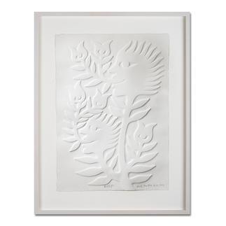 Ren Rong – Frühlingshoffnung Das berühmteste Motiv eines der renommiertesten chinesischen Künstler. Ren Rongs Pflanzenmensch erstmals als Prägedruck. Masse: gerahmt 70 x 90 cm