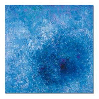 Benno Werth – Frühling am See Prof. Benno Werths einzige Edition in Blau. 30 Exemplare. Masse: 100 x 100 cm