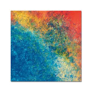 """Benno Werth – a day of the sea Mit dieser Edition beendete Benno Werth seine Serie """"Schichtarbeit"""". Jedes der 30 Exemplare von Hand gefirnisst. Masse: 100 x 100 cm"""