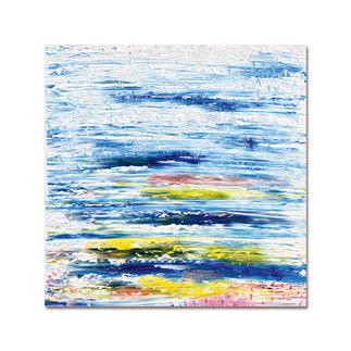 """Benno Werth – Fröhliche Landschaft Die Edition """"Fröhliche Landschaft"""" aus Benno Werths Serie """"Schichtarbeit"""". Jedes Exemplar von Hand gefirnisst. Masse: 100 x 100 cm"""