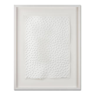 Günther Uecker – Graphein C Prägedruck auf 300-g-Büttenpapier   Auflage: 120 Exemplare zzgl. e. a.   Blattgrösse (B x H): 50 x   70 cm   Masse: gerahmt 73 x 93 cm